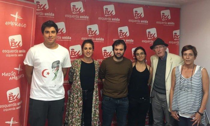 A nova Coordinadora Local, de esquerda a dereita: MIguel García, Carmen Armada, René Gamborino, Aurora Paz, Nicanor Acosta e Breta Vigil