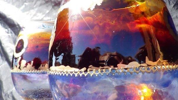Cristal decorado de Xulia Weinberg