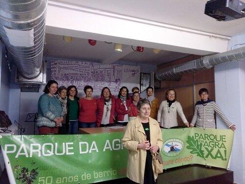 Parque da Agra xa!  Rolda de prensa de presentación da nova xunta directiva da Asociación Veciñal AGRA