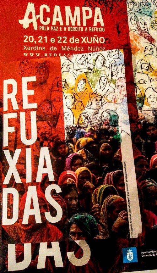 """Cartel """"Refuxiadas"""", Acampa 2019"""