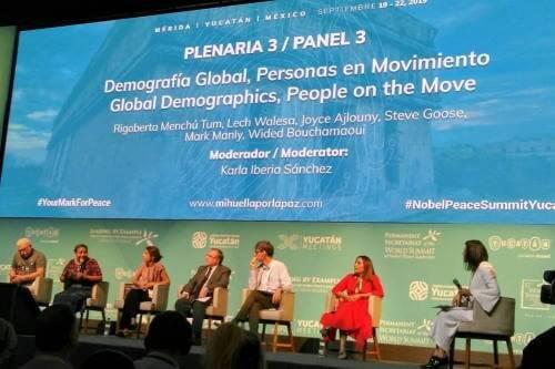 """Cumbre de Premios Nobel de la Paz 2019. Panel sobre """"Demografía global. Personas en Movimiento"""""""