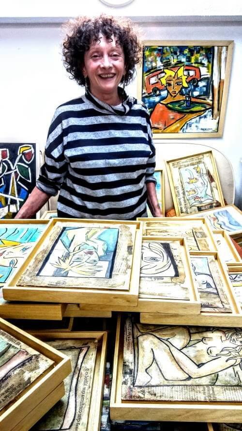 """Chelo Facal. Exposición """"Un mundo de luz. Un mundo de cores"""" en el Ateneo Ferrolán"""