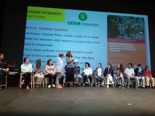 Oxfam Intermón en el lanzamiento de la 2ª Marcha Mundial por la Paz y la Noviolencia en A Coruña