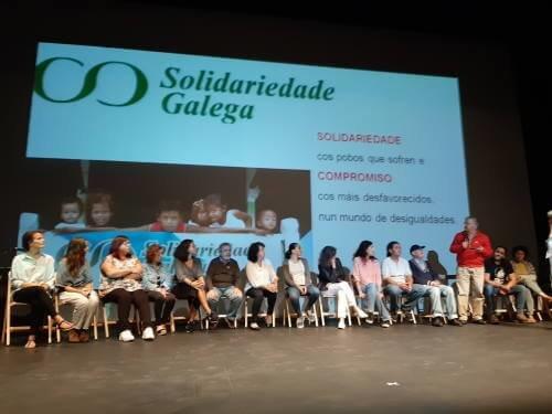 Solidariedade Galega en el lanzamiento de la 2ª Marcha Mundial por la Paz y la Noviolencia en A Coruña