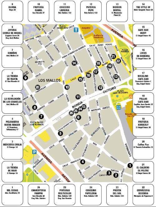 Mapa do Samaín dos Mallos