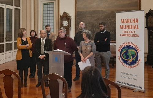 Carlos Reguera, miembro del equipo promotor de la 2ª Marcha Mundial por la Paz y la Noviolencia en A Coruña