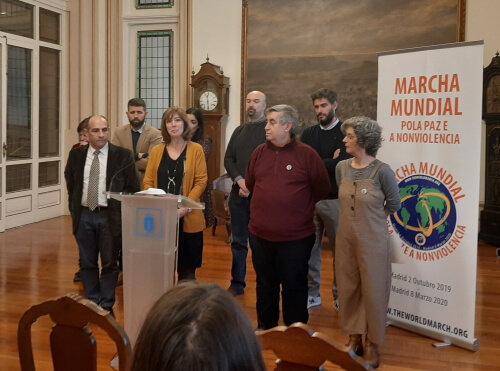 Shyra Flecha, del CEIP Concepción Arenal, habló en nombre de los centros educativos.