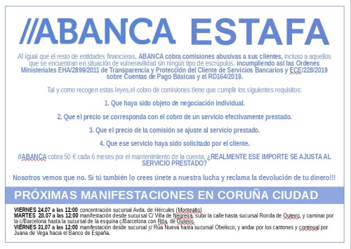 Cartel proximas convocatorias